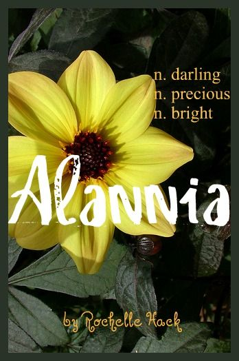 Baby Girl Name: Alannia. Meaning: Darling (Gaelic) Precious (Old German) Bright (Old French). https://www.pinterest.com/vintagedaydream/baby-names/