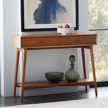 Mid century console acorn consolas recibidor y depto for Hipo muebles