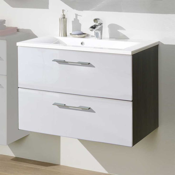 Fancy Waschtischunterschrank mit Becken Hochglanz Wei Jetzt bestellen unter https moebel ladendirekt de bad badmoebel badmoebel sets uid udb be