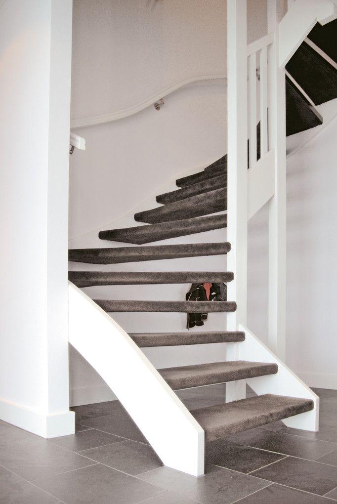 Parade trap tapijt bruin grijs trapbekleding pinterest bruin grijs en interieur - Witte trap grijs ...
