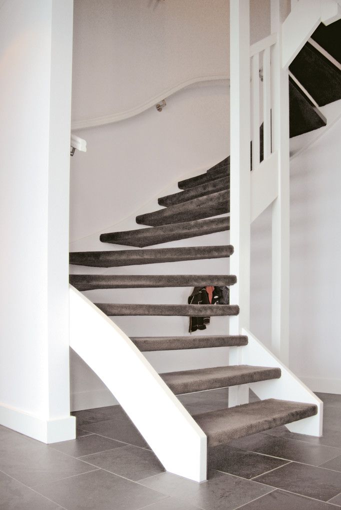 Parade trap tapijt bruin grijs trapbekleding for Trap mooi maken