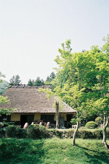 Japanese traditional farm house. Minka