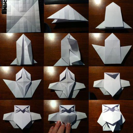tuto origami hibou