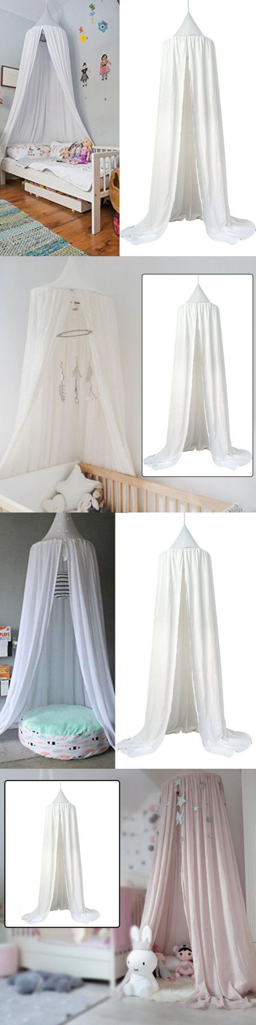 Canopies and Netting 48090: Kids Bedding Round Dome Bed Canopy Cotton Linen Mosquito Net Curtain Room White -> BUY IT NOW ONLY: $31.56 on eBay!