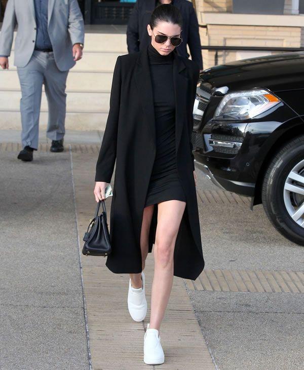 Kendall Jenner black bodycon dress luvmay.com.br