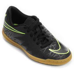 Chuteira Nike Hypervenom Phade 2 IC Infantil - Preto