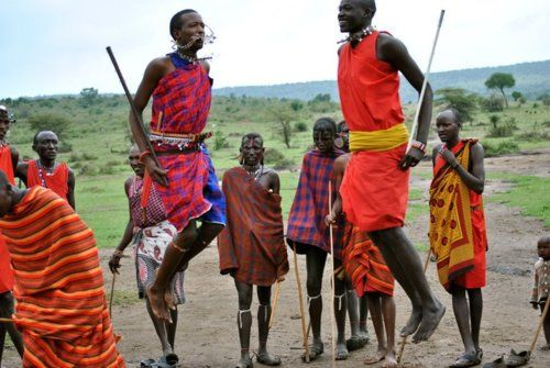 Kenya, Africa;  Lived in Africa 2002 - 2005;  Awesome photo from the original pinner.  What is amazing is their vertical jump the warriors have.