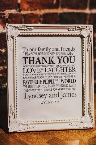 Thank You Sign   Pretty English Wedding   Steve Gerrard Photography   Bridal Musings Wedding Blog