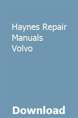 Haynes Reparaturanleitungen Volvo download pdf – Toworkbullparmend