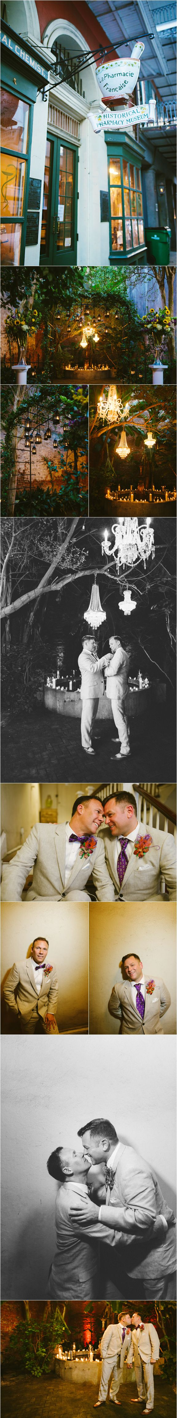 Christopher and Cliff's New Orleans Wedding at the historical Pharmacy Museum (Dark Roux Photography) - See more: http://darkroux.com/new-orleans-wedding-pharmacy-museum-christopher-cliff/