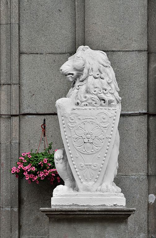 Lion with Shield by an unknown author. 1907. The sculpture before the house of Ivan Kuznetsov (The House With the Lion), Myasnitskaya Street, 15, Moscow. Photo by Dmitry Ivanov. 2016. #neoclassicism