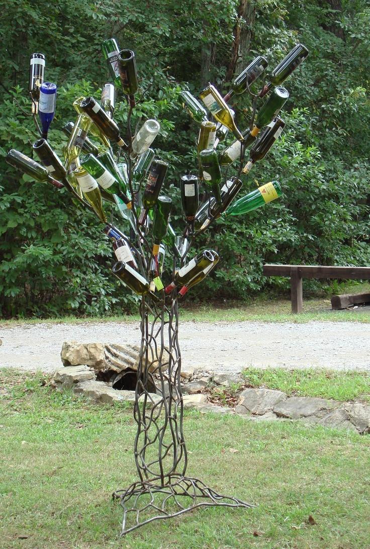 157 best bottle trees images on Pinterest | Garden art, Yard art and ...