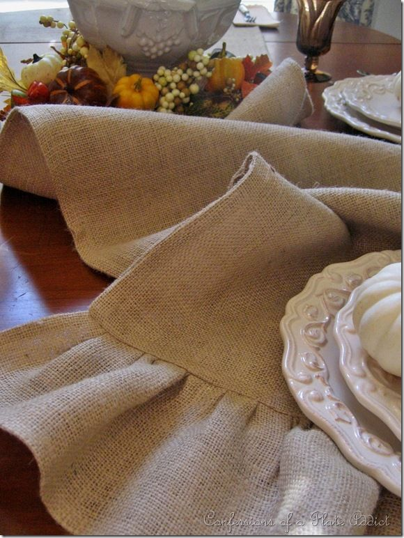Make a Burlap Runner from Confessions of a Plate Addict
