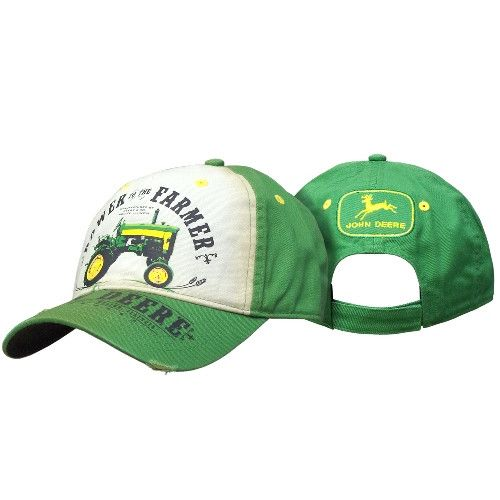 John Deere Waxed Canvas with Barbed Wire Hat 13080363