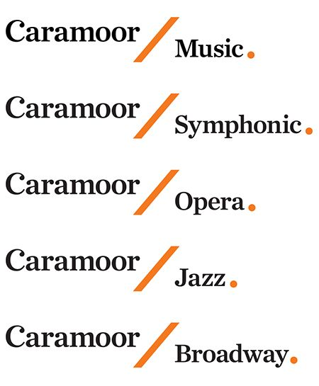 Pentagram's Paula Scher has designed an elegant new identity for Caramoor Center for Music and the Arts that is inspired by the institution's unique setting and history and the forms of musical notation.