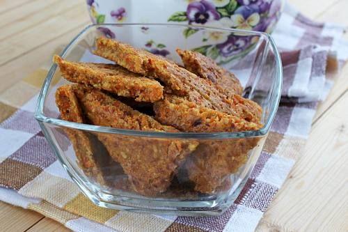Морковное постное печенье
