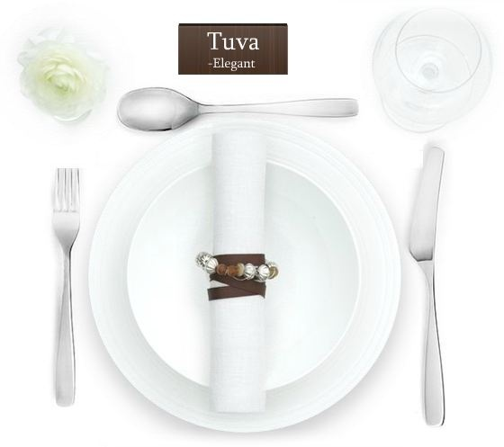 Stainless Steel Cutlery Hardanger Bestikk - Tuva 24 pieces - Baltic Products
