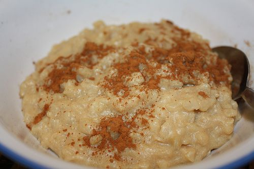 """Whole grain rice pudding. {One of our favorite breakfasts- """"just like the poky little puppy!""""}"""