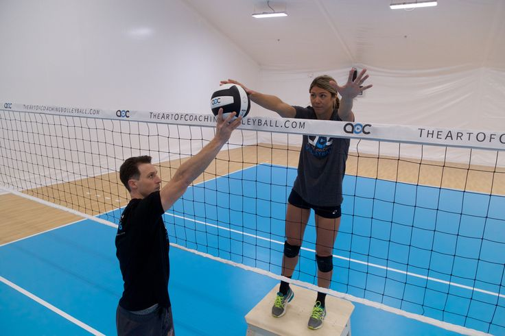 The Coaches Box by Sports Imports places athletes and volleyball coaches at net height to incorporate a wide array of drills during practice.