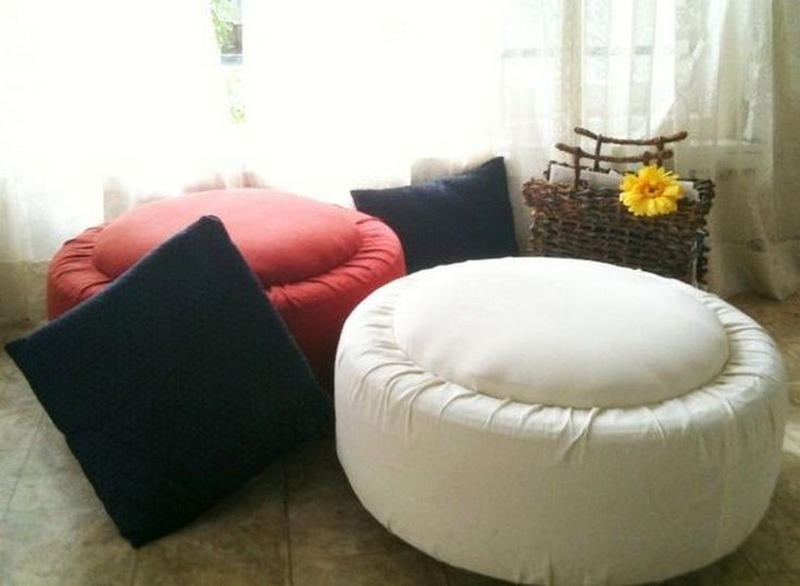Do-It-Yourself Tire Table and Ottoman