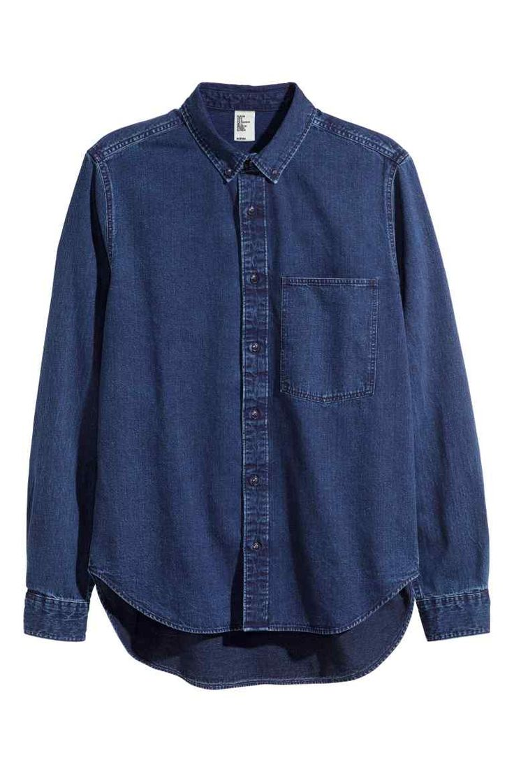#HM #DenimShirt with #OverSized chest pocket
