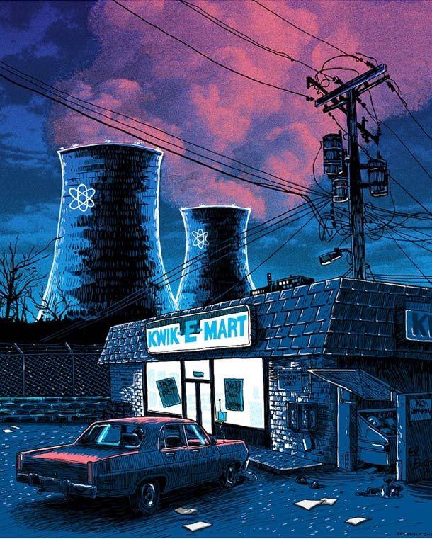 """La série """"Unreal Estate"""",des illustrations absolument magnifiques de l'artiste américainTim Doyle(Texas)qui s'amuse a représenter les lieux mythiqu"""