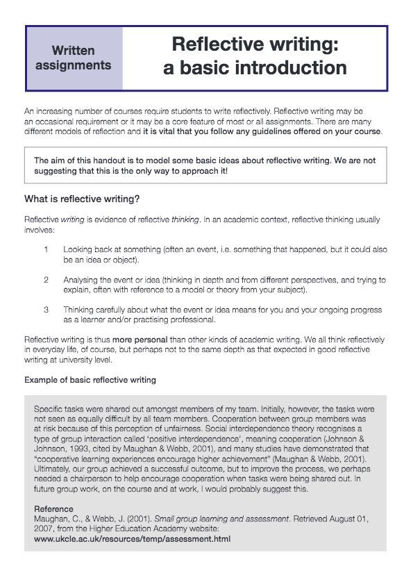 guide to writing a reflective journal