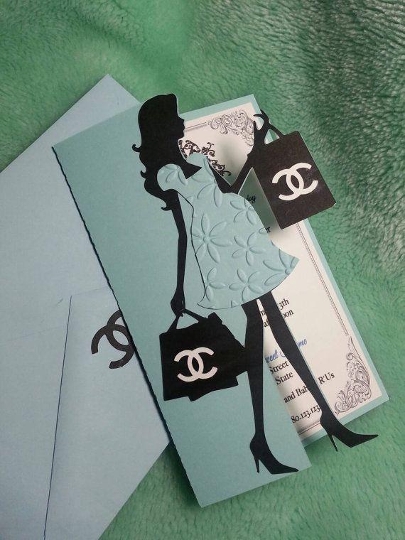 Baby Boy Baby shower Invites  Chanel Inspired invites