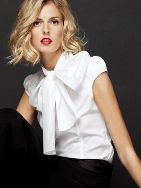 Carolina Herrera, blusa blanca, moda mujer