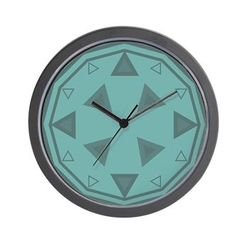 Compass Clock in Teal Wall Clock