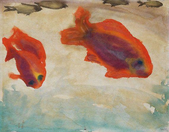 Emil Nolde - Zwei rote Fische