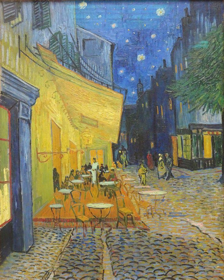 Hoge Veluwe - Museum Kröller-Müller. Vincent van Gogh (1853/1890) - 'Caféterras bij nacht (Place du Forum)' - ca 16/9/1888 - olieverf op doek. Foto: G.J. Koppenaal - 30/8/2017.