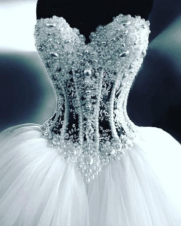 Item Description A Glamorous Tulle Ball Gowns Featuring Sweetheart Neckline And See Through Bodice Corset P Wedding Dresses Ball Gowns Wedding Bridal Dresses