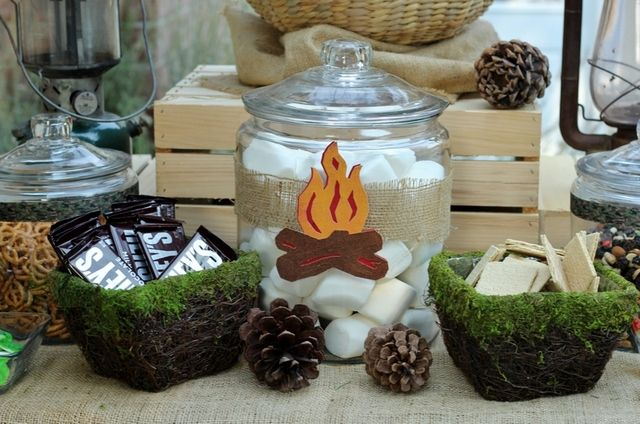 S'mores at a Camping Party