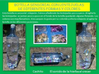 Botellas sensoriales: efecto visualcalmante, efecto estimulador de la vista o refuerzo cognitivo :El sonido de la hierba al crecer