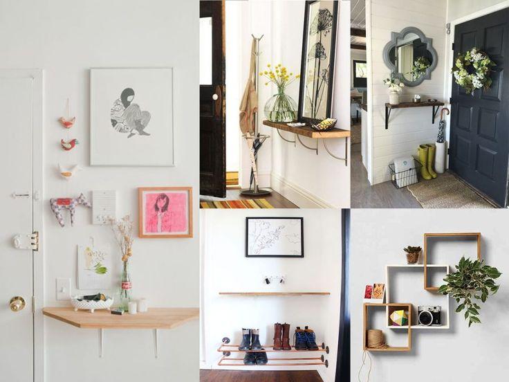 estanterías en recibidores pequeños