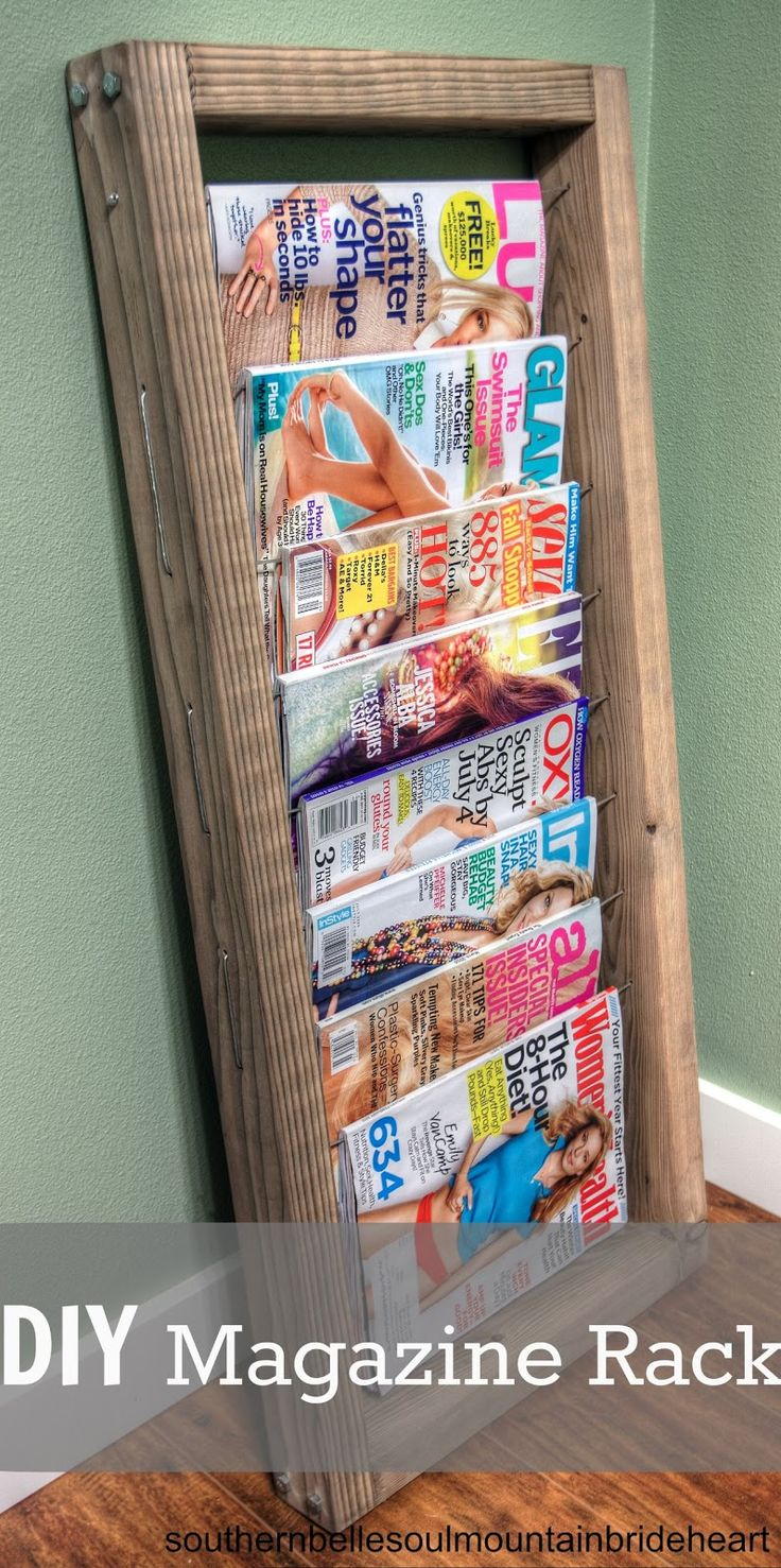 I'll take a serving of the ole' Rack o' Magazines please (DIY INDUSTRIAL VINTAGE MAGAZINE RACK) | Southern Belle Soul, Mountain Bride Heart