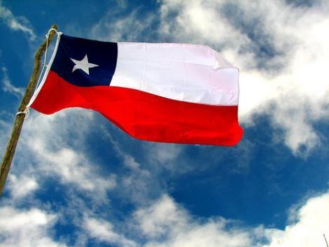 waving Chilean flag