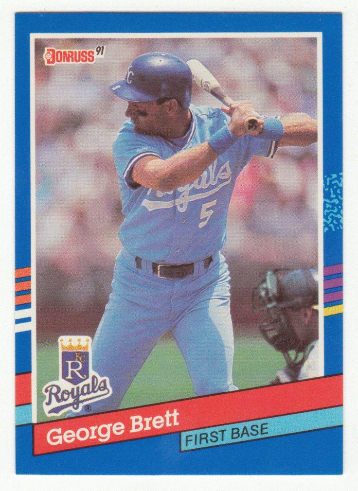 Brett 201 1991 Donruss Baseball Baseball
