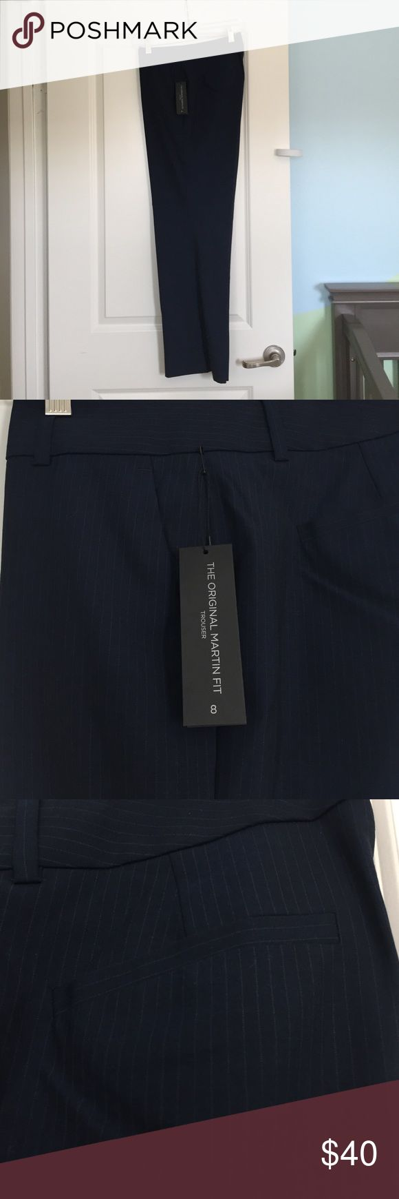 ⭐️NWT⭐️ Banana Republic Trouser Navy blue pinstripe trouser. Grey pinstripe. Original Martin Trouser. Banana Republic Pants Trousers