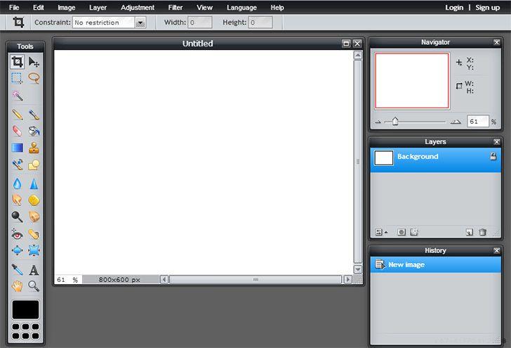 Интерфейс, похожий на фотошоп