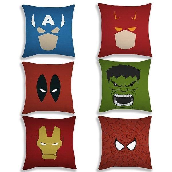 marvel comics pattern pillow covers