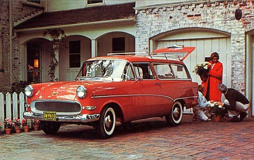 1957-1959 Opel Rekord Caravan The Opel Caravan, as it was sold in North America. The official name in Europe was Opel Olympia Rekord Caravan (body desgination Rekord P1).