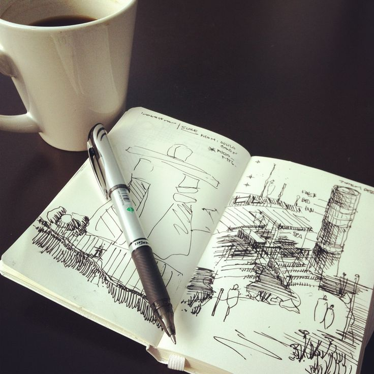 'Don't forget the coffee' | Lots of architecture commentary on sketching in a digital age #coffeesketch