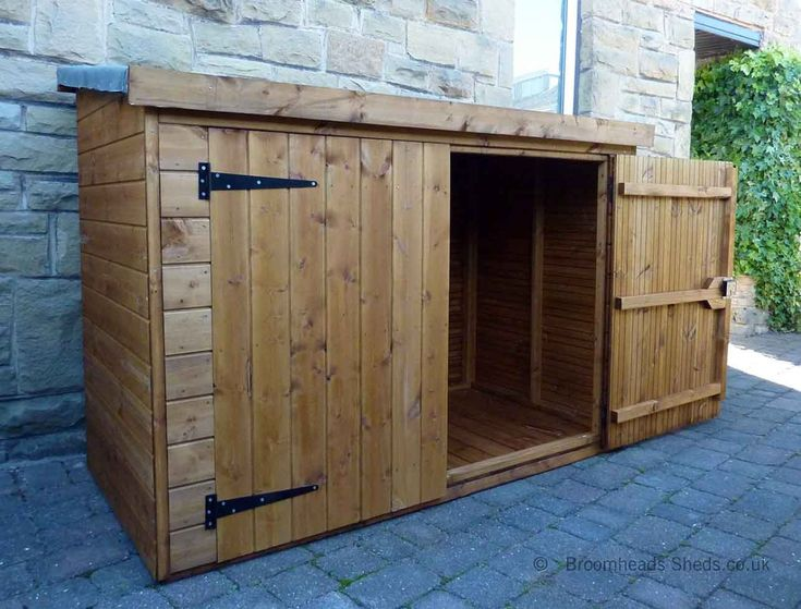 Store Shed 16mm Tanalised Timber Pent Roof Max Height 6ft 6in.