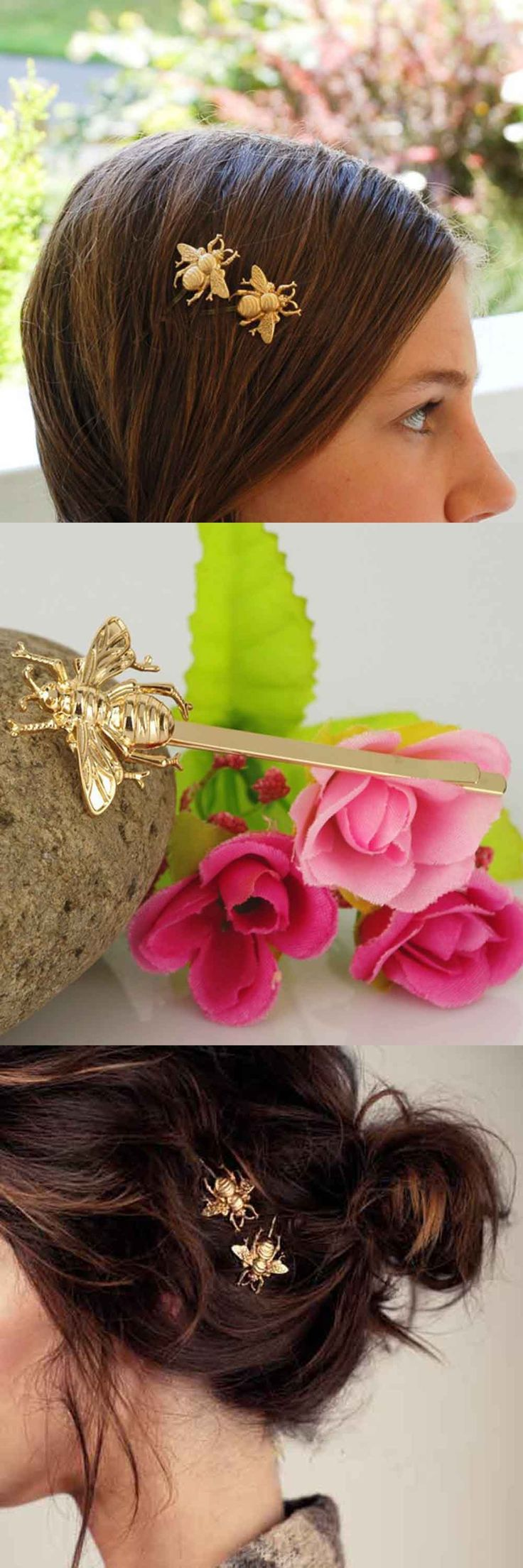1pc Hair Clip Stylish Little Bee Shape Hairpin Hair Accessories For Women Solid Color Bow Pinzas Para El Cabello