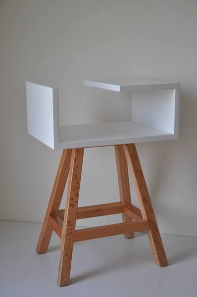 Biały stolik nocny  - acoco-style - Stoliki