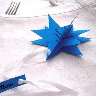 Décoration de table de Noël : menu étoile pour pour décorer votre #TableDeNoël #décoration#motricitéFine