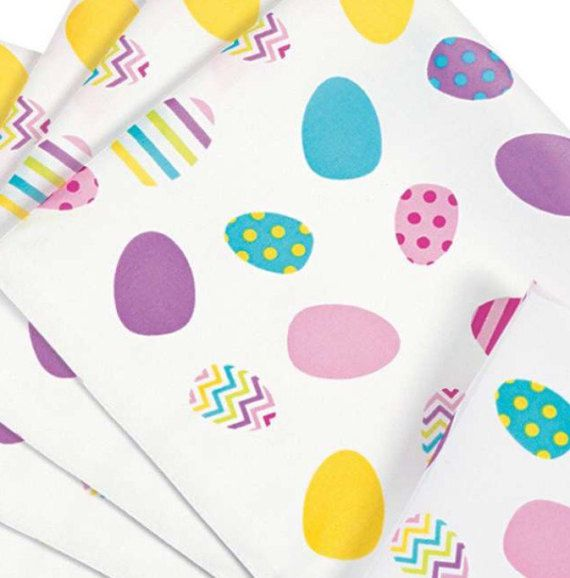 Easter Tablecloth  Easter Egg Pattern by PaintingPrimitive on Etsy