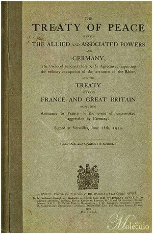 Unit 3:   The Treaty of Peace/ Versailles was a treaty signed by Great Britain and France at the end of WW1(world war 1). The treaty forced Germany to pay for all he damages done by WW1. This Treay was signed behind the back of Germany so they didnt have a say in what happened.